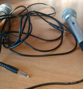 2 микрофона для караоке