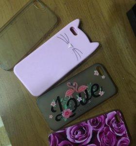 Чехлы на iPhone 5 ,цена за все 4