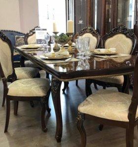 Набор стол со стульями новое
