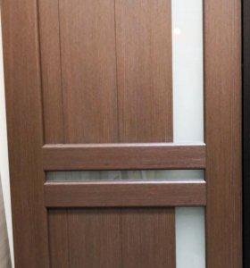 Дверь экошпон шоколад2000*700 с выставки