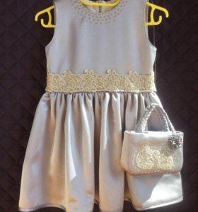 Платье с сумочкой (рост 98)