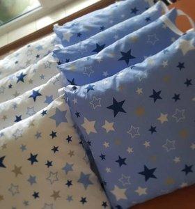 Новые бортики в кроватку для мальчика