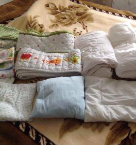 Бортики в кроватку, одеяла, подушки и белье Икеа