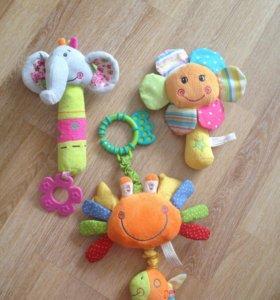 Погремушки игрушки музыкальные для малыша