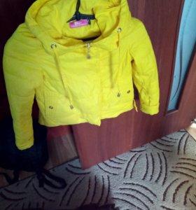 Куртка для девочки, яркая.