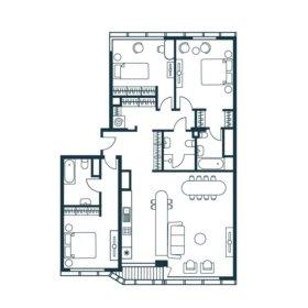 Квартира, 4 комнаты, 126.3 м²