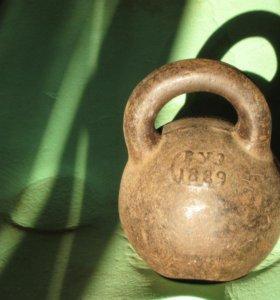 Гиря 32 кг - двухпудовка 1889 года