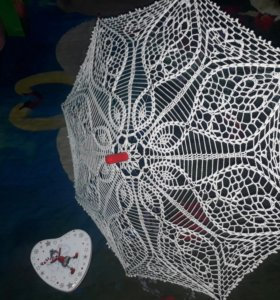 Вязаный ажурный зонтик
