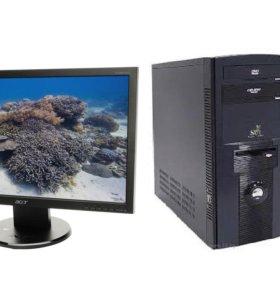 """Компьютер для офиса с монитором 19"""""""
