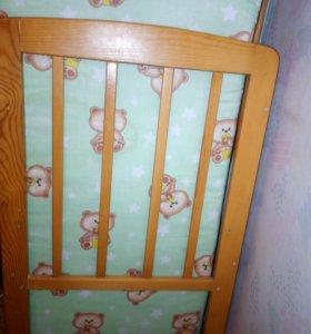 Кроватка+новый матрасик