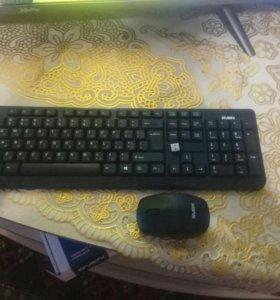Безпроводная клавиатура и мышка
