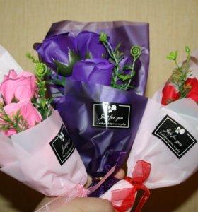 Оригинальный презент -Букет из мыльных роз