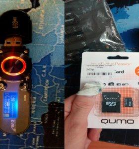 Mp3 плеер Новый чёрный c ЖК-дисплеем USB + Подарок