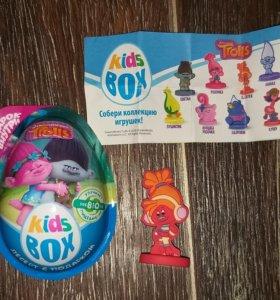 """Шоколадное яйцо """"Kids box"""" (Trolls). DJ Звуки"""