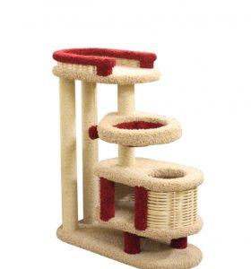 Когтеточка, комплекс домик для кошки Брунетка