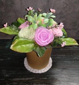 Букет из 7 роз из мыла ручной работы ❣️