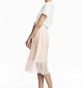 H&m юбка гипюр,тюль