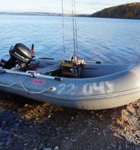 Лодочный мотор и лодка ПВХ
