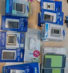 Аккумуляторы для Sony Ericsson,Nokia,Motorola и др