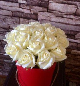 Неувядающие розы из мыла ручной работы