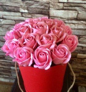 Неувядающие розы из мыла