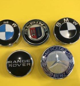 Колпачки на литые диски BMW MERCEDES RANGE ROVER