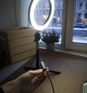 Мини кольцевая лампа новая