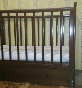 Кровать детская маятниковая поперечного качания