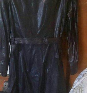 Плащ мужской кожаный мягкая кожа 46.48размер