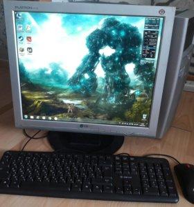 Игровой системный блок + монитор 17 дюймов