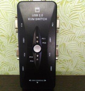 KVM-свич на 4 ПК
