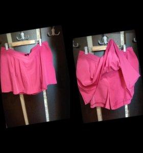 Юбка-шорты женская розовая