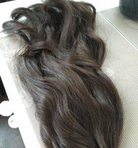 Волосы натуральные 55-60 см на заколках