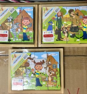 Новые деревянные кубики мультфильмы Простоквашено