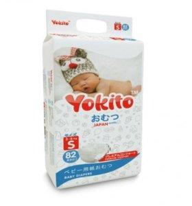 Подгузники на липучках YOKITO Premium Sдо6 кг 82шт