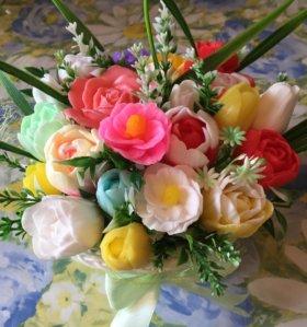 Композиция букет цветов из мыла