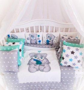Новый набор комплект для новорожденных в кроватку
