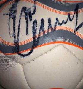 Мяч с автографом Рината Дасаева