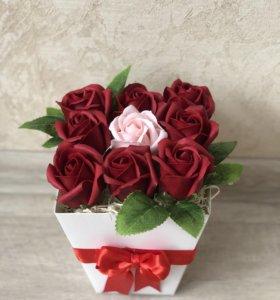 Мыльные букеты роз