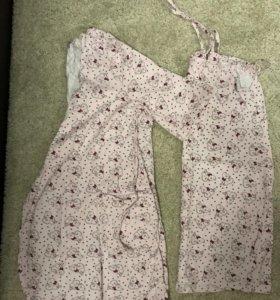 Комплект халат и сорочка в роддом евромама