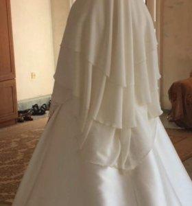 Свадебный 3-слойный платок
