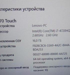 Продаю Lenovo Y70-70 Touch