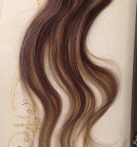 Волос натуральный на заколках hairshop