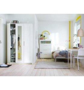 БРИМНЭС Шкаф платяной 3-дверный, , 117x190 см
