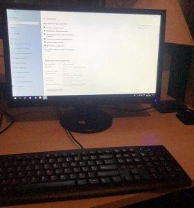 Комплект i5, SSD, ОЗУ 16 ГБ,HDD 1,4ТБ+монитор Acer