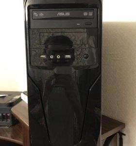 Системный блок, монитор, клавиатура, мышка, wifi.
