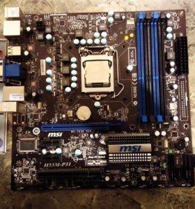 MSI H55M-P31 LGA1156 P55 сокет LGA 1156 Отл сост