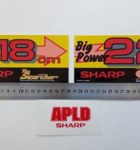 Наклейки на магнитолы Sharp GF-9494 и пр.