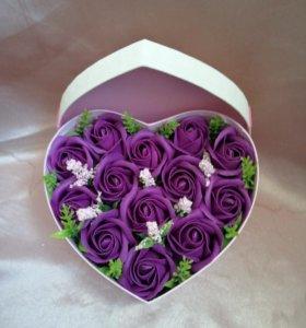 Букеты и коробки с мыльными розами