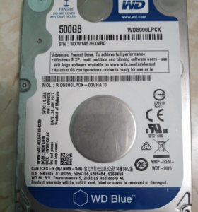 Внутренний Жесткий диск 500GB